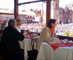 Uitzicht vanuit het restaurant plus cusco