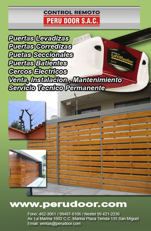 Automatic garage doors PERÚ DOOR Telf 4623061
