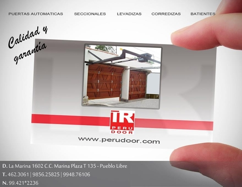 Removable sectional garage doors PERU DOOR Telf 4623061