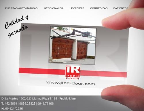 Puertas Levadizas seccionales de garaje PERU DOOR Telf 4623061