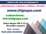 venda de policarbonato sólido: grupo irt