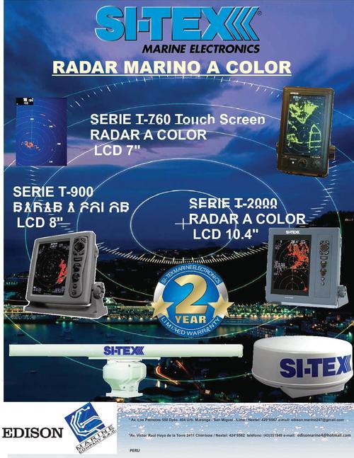 radares marino a color lcd