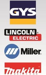 Equipos y Accesorios Marcas GYS, Lincoln Electric, Miller y Makita
