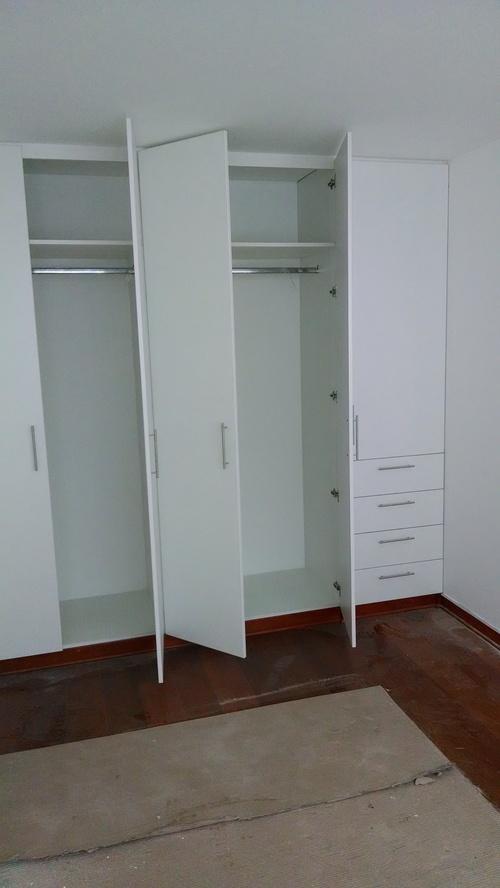 closet empotrado en melamine