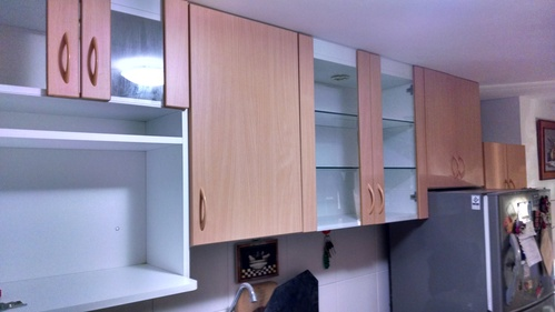 high cabinets in melamine Color 18mm BEECH NATURAL NOVOKOR