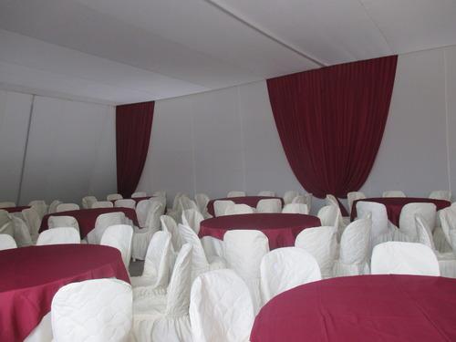 Toldo con cortinas bombeadas / Jorge Blas