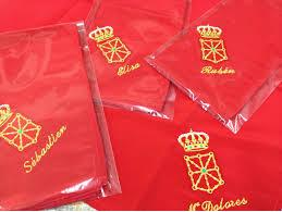 Embroidered handkerchiefs for rocks