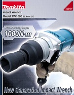 Brand Makita Impact Wrench TW-Japan Model 1000 / 25.4 mm. (1