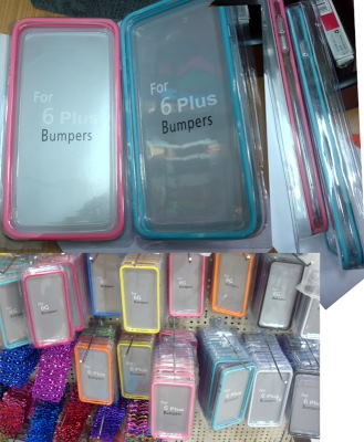 proveedor iphone4S/5/5S/5C/6/6 plus Metal /Colorful transparen bumpers