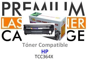 Toner Genérico Compatible con HP CC364X - 64X Negro