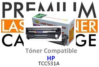 Toner Genérico Compatible con HP CC531 Cyan