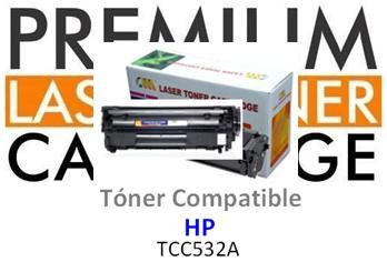 Toner Genérico Compatible con HP CC532 Amarillo