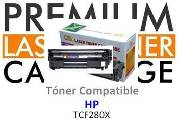 Toner Genérico Compatible con HP CF280X - 80X Negro