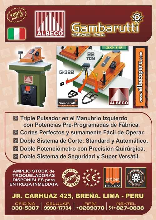 Flag Stamping GAMBARUTTI. 22 Ton. Exclusive Version 2015