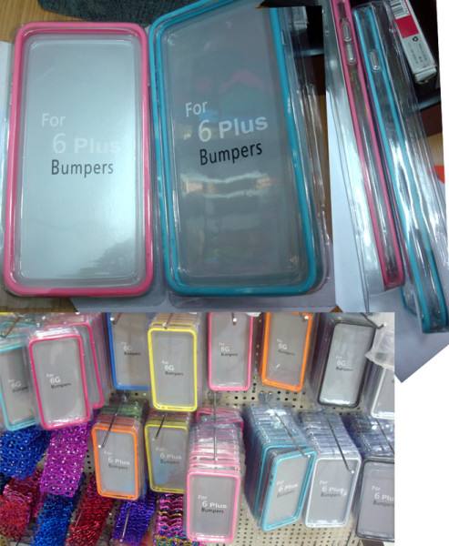 proveedor SamsungS3/S5/S4, Note4/3/2 Middle transparent Bumper casos