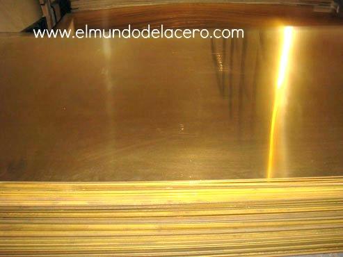 placas de bronze e lâminas