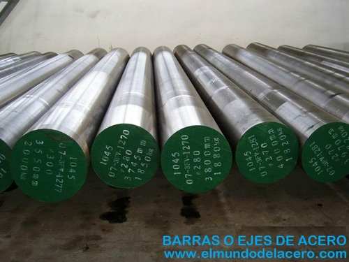 Axes or SAE 1020 steel bars, 1045