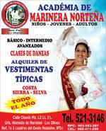 ACADEMIA DE MARINERA - ALQUILER DE VESTUARIOS TIPICOS - ESPECTACULOS