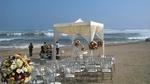 Heirat am Strand