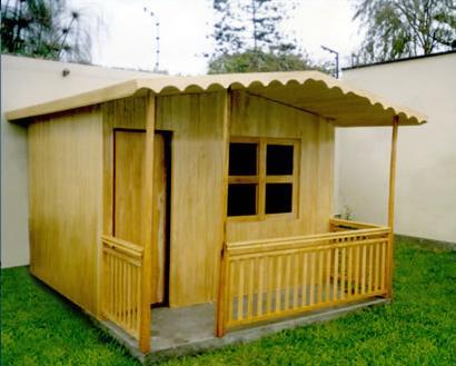 casita pre fabricada de 3.00 x 2.00 mtrs con terraza