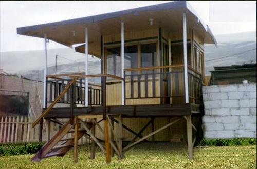 casita de dos pisos ideal para el hogar