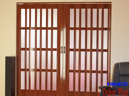 smooth PVC folding doors and windows with acrylic