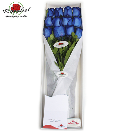 Caja de rosas azules lima peru