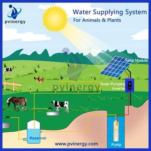 Solaranlage zur Trinkwasser Landwirtschaft