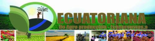 Ecuadoraanse Agro producion.