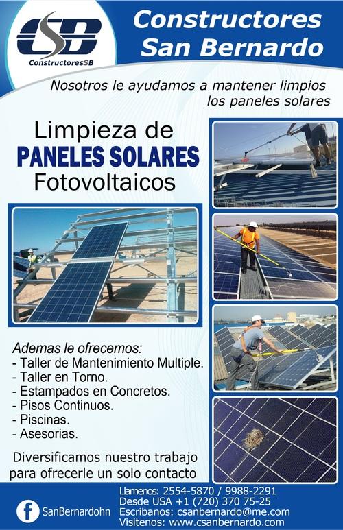 Limpieza de Paneles Solares Fotovoltaicos