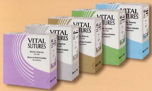 Sutura Vicryl(ácido Poliglicolico) Dafilon(Nylon) Seda, Prolene, Catg