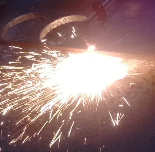 Application: Cutting Material carbon steel with oxyacetylene Process