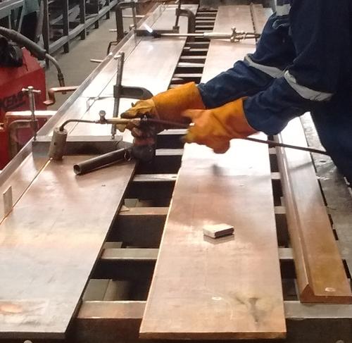 Anwendung: Schweißen Elektrolyt-Kupfer-Kathoden mit MIG-Prozess
