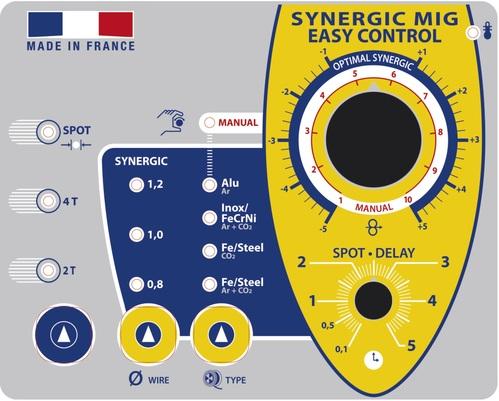 Control Panel synergetischen MIG-MAG-Schweißer Marke GYS-Frankreich