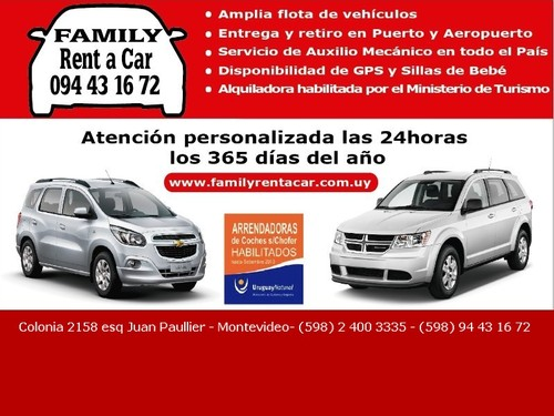 Family rent a car Uruguay
