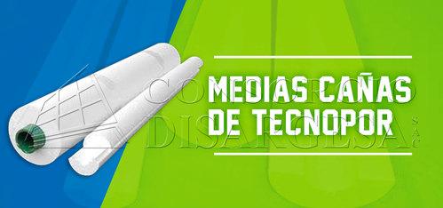 MEDIAS CAÑAS DE TECNOPOR