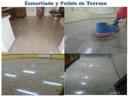 Terrazo grinding and polishing, granite and firm floors.