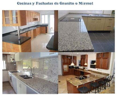 Elaborated and installed of kitchens, washes and facades of marble and gran