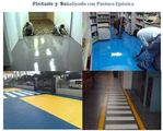 Application of epoxy coatings.