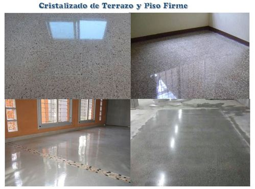 Crystallized of terrazzo floors, granite and firm floors.