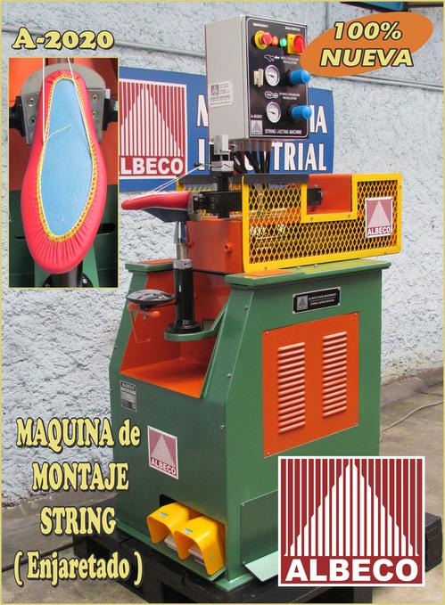 MAQUINA MONTAJE STRING ( MONTAR JARETA ) ALBECO STRING LASTING MACHINE