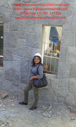 piedra talamoye, piedra laja, piedra granítica tipo rompecabeza en la