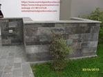 jardinera en piedra talamoye con visto