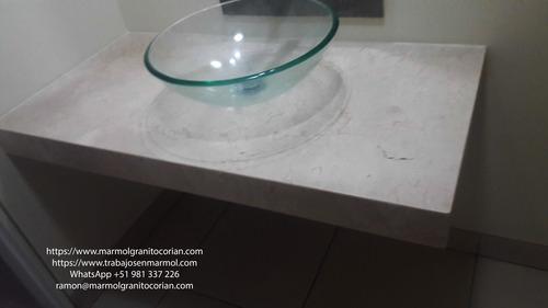 pulido de marmol crema galala