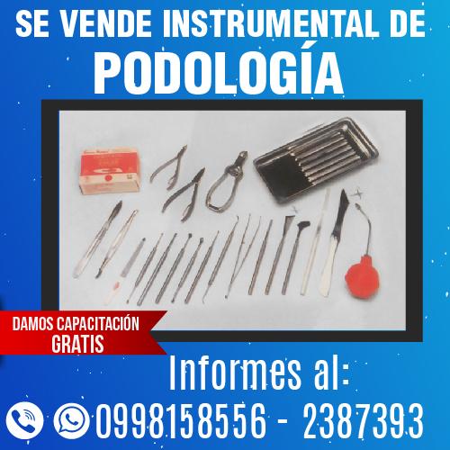 SE VENDE INSTRUMENTAL DE PODOLOGIA