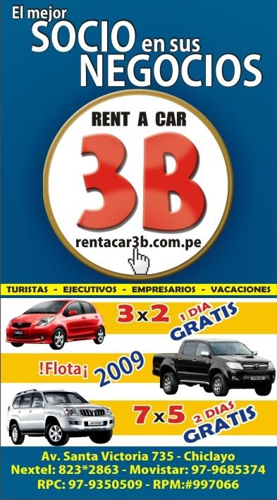 negocios en chiclayo rent a car 3b