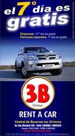 promociones de rent a car 3b chiclayo