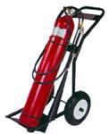 25-50-100 libras extintores de rolamento de dióxido de carbono