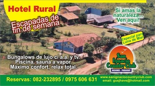 DATA DE MEDICINA A SAUNA HOTEL RURAL EM SAN IGNACIO PAÍS