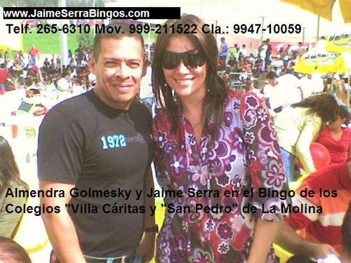 Alquiler de Bingos www.Facebook/JaimeSerraBingos Telf. 265-6310